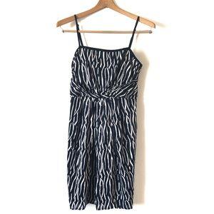 Ann Taylor LOFT cotton dress stripped blue sz 2